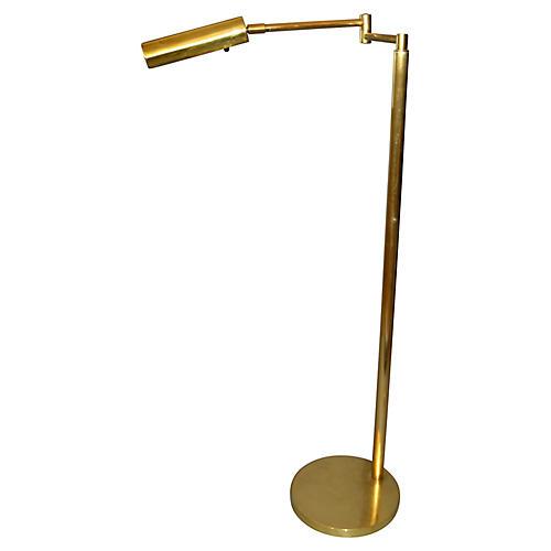 Italian Brass Swing Arm Reading Lamp