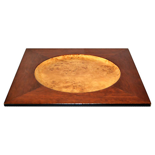 Burl Wood & Mahogany Plate