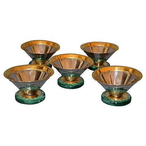 Art Deco Ice Cream Cups, S/5