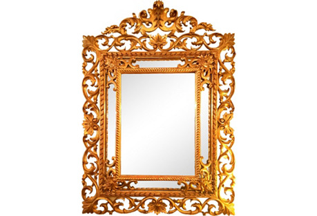 19th-C. Italian Gilt Mirror