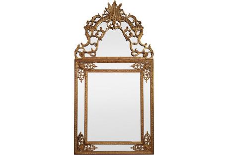 19th-C. French Gilt Mirror