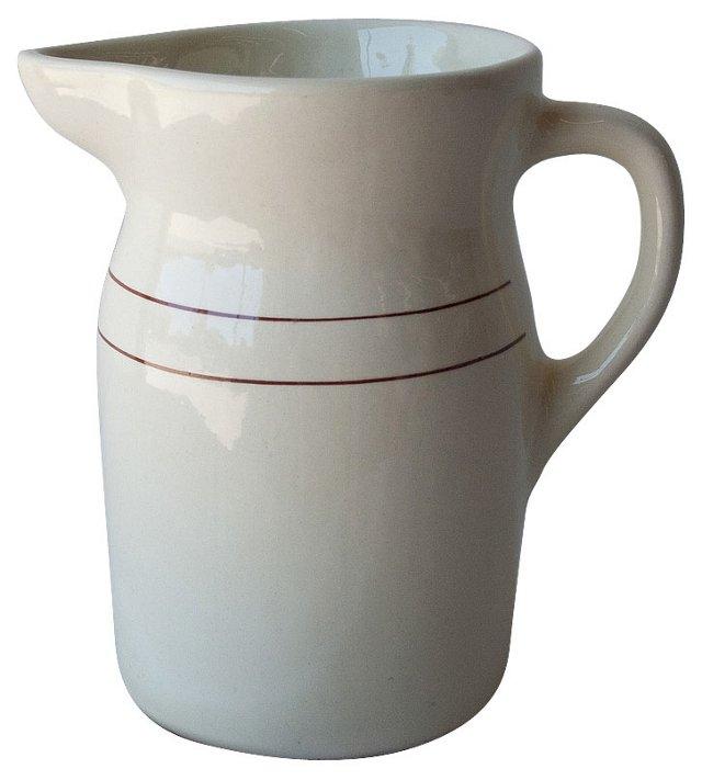Stoneware Water Pitcher