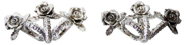 Floral Napkin Rings, Set of 6