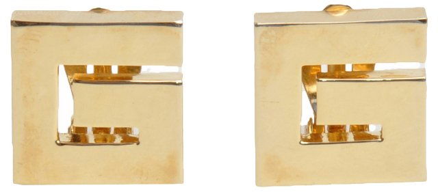 """Givenchy """"G"""" Gold Logo Earrings"""