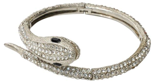 Pavé Rhinestone Snake Bracelet*