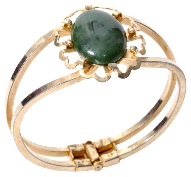 Jade Clamper Bracelet