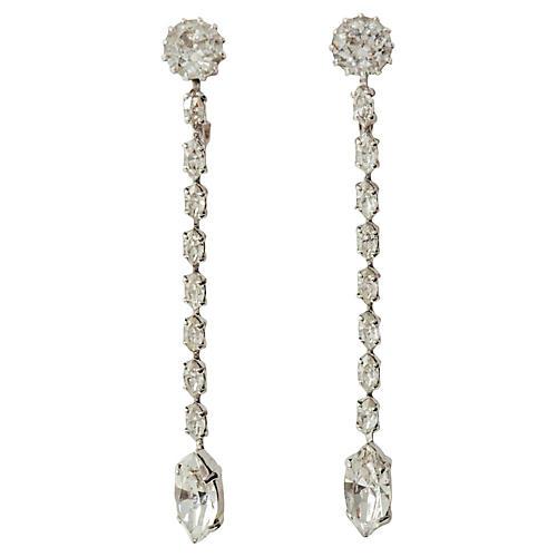 Trifari Dangling Crystal Earrings