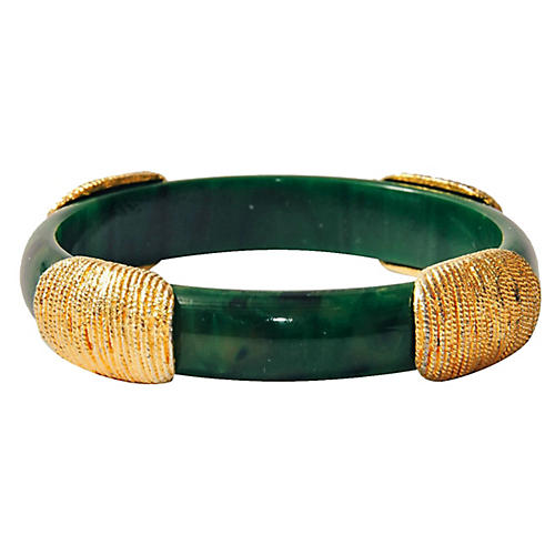 Goldtone Thumbprint Bangle