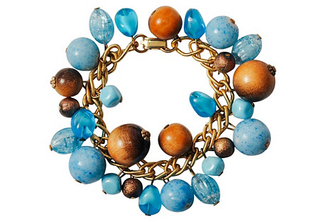 Blue Bauble Charm Bracelet