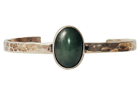 Sterling Silver & Chalcedony Cuff