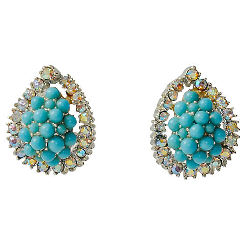 Kramer Turquoise Cluster Earrings