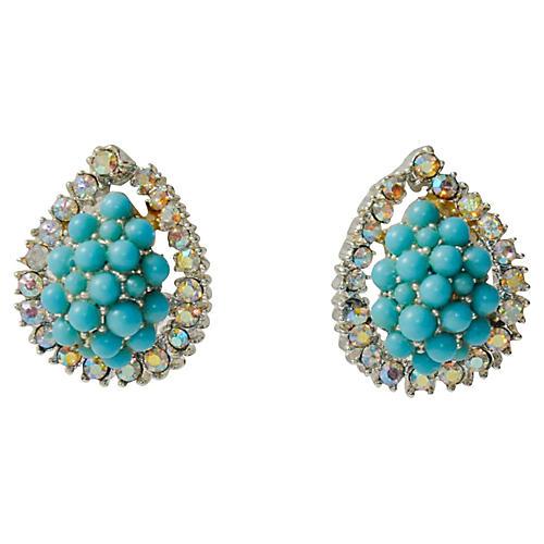 Kramer Turquoise Cluster Earrings