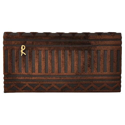 Roberta di Camerino Brown Velvet Purse