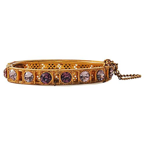 Miriam Haskell Lavender Bracelet