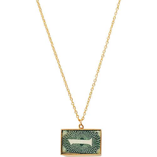 1-Pound Money Charm Pendant Necklace