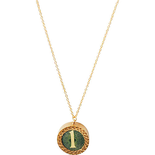 Round Money Charm Pendant