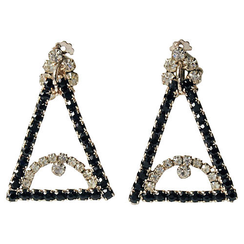 Evil Eye Rhinestone Earrings