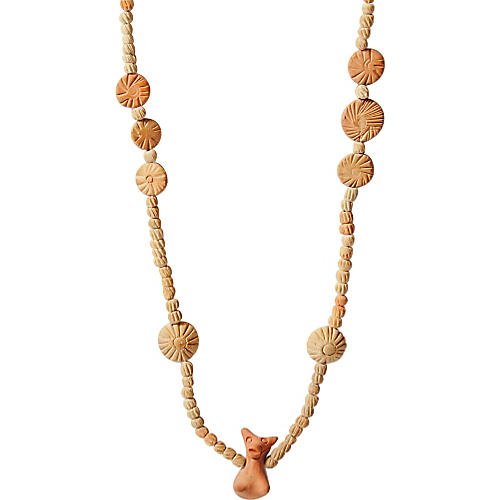 Native American-Style Clay Necklace