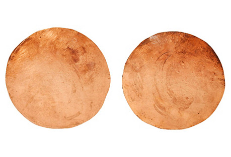 Large Copper Circle Earrings