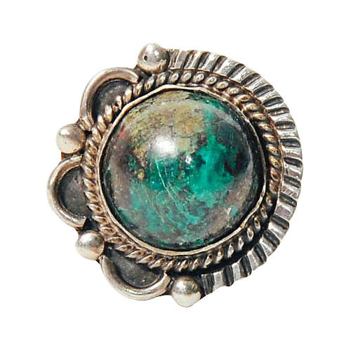 Sterling Silver & Turquoise Globe Ring