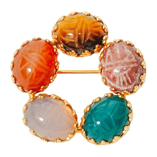 Scarab 12K Gold Brooch
