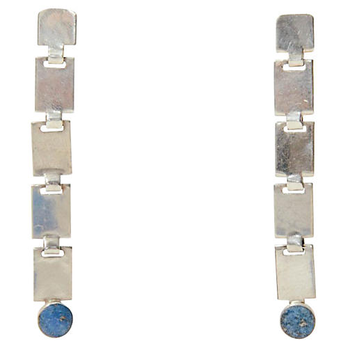 Sterling Silver & Lapis Lazuli Earrings