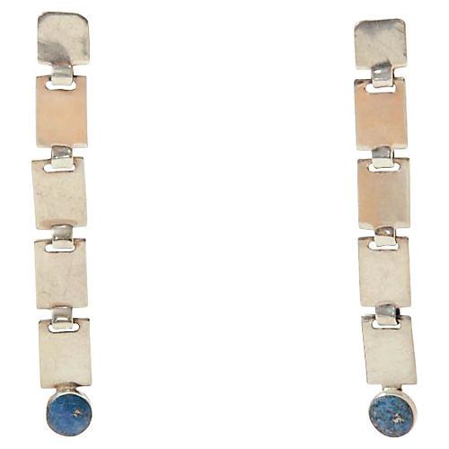 Sterling Silver & Lapis Lazuli Earrings
