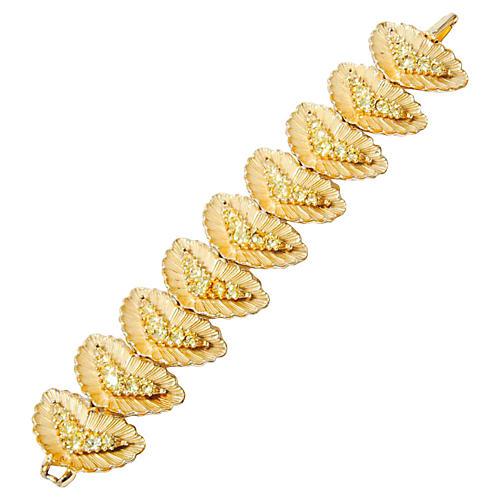 Crescent Rhinestone Bracelet
