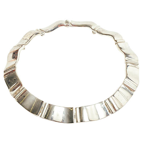Givenchy Modernist Silver Collar