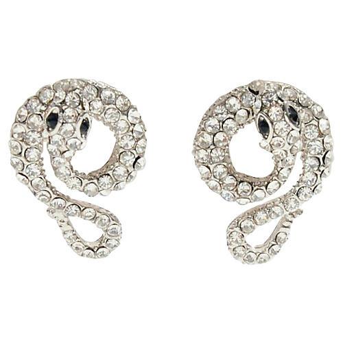 Snake Rhinestone Stud Earrings