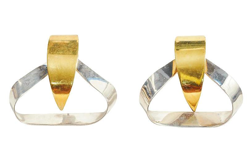 Taxco Mixed-Metal Earrings