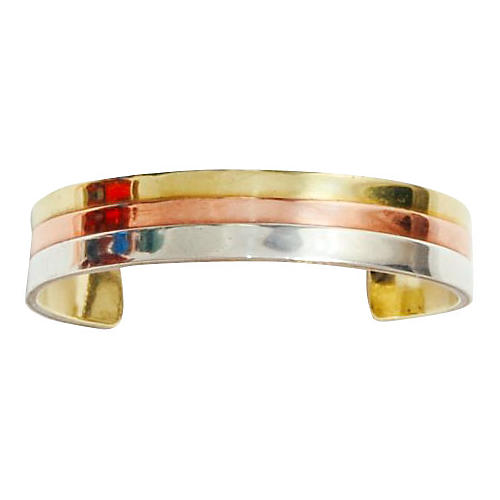 Mixed-Metal Sterling Cuff