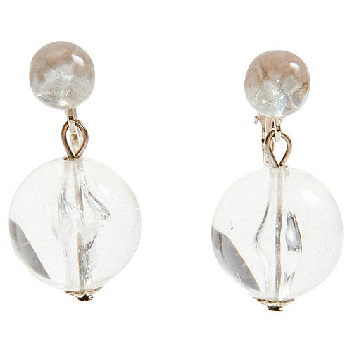 Lucite Ball Drop Earrings