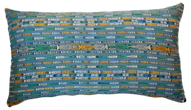 Guatemalan Ikat Textile Pillow