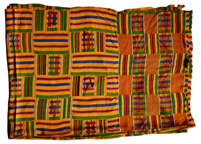 African Gold Kente Cloth