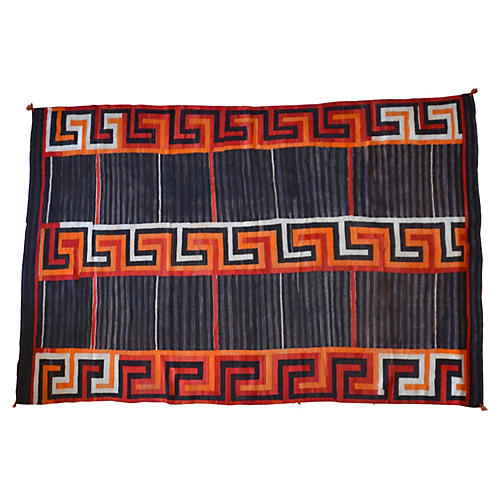 "Navajo-Style Transitional Rug, 5'2"" x 8'"