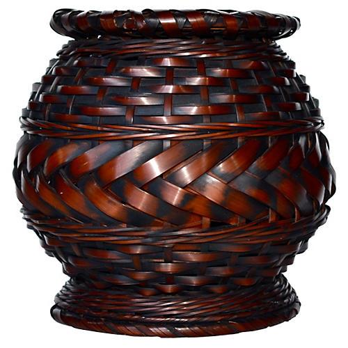 Antique Japanese Bamboo Basket