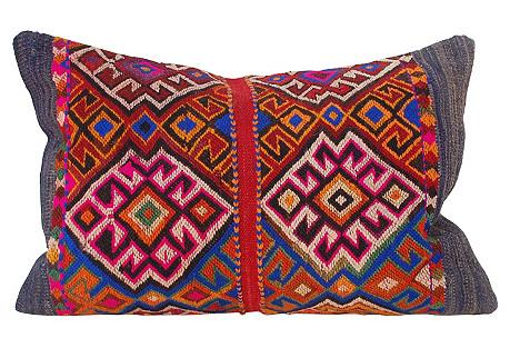 Handwoven Kilim Pillow, 16
