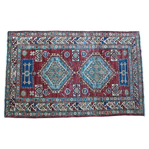 """Afghan Rug, 4' x 6'1"""""""