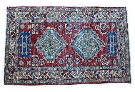 Afghan Rug, 4' x 6'1