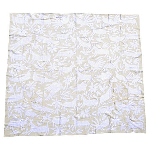 1990s Otomi Embroidered Throw