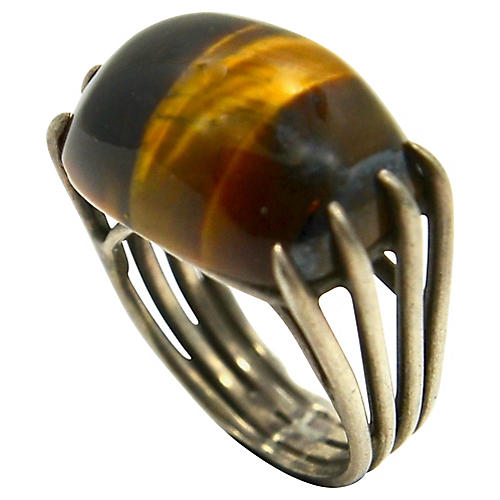 Mexican Tiger-Eye Sterling Ring