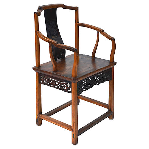 Chinese Carved Chair, C. 1840