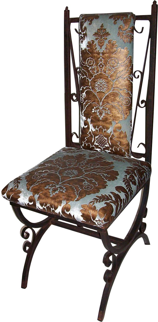 Scrolled Iron Chair