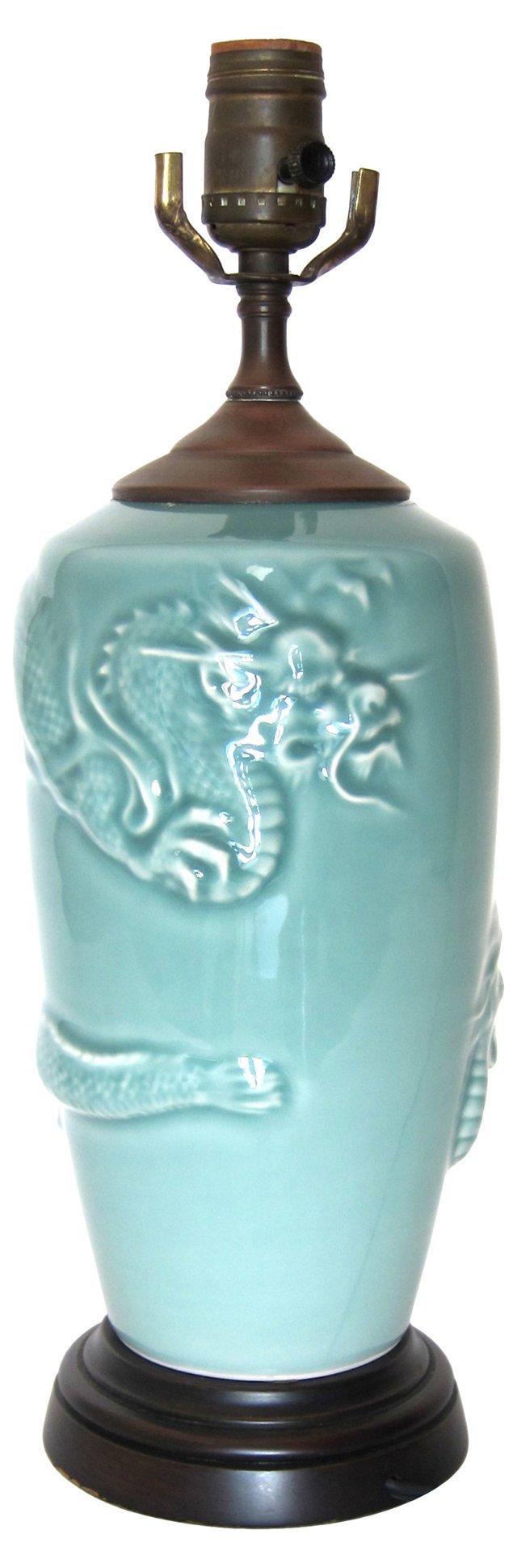 Blue Dragon Lamp
