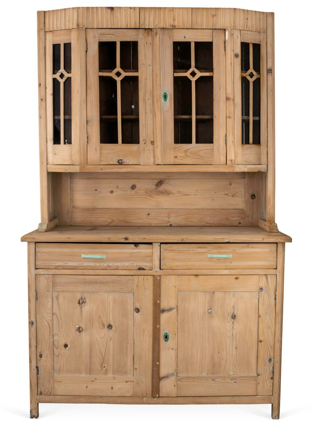 Art Deco Pine Cabinet, C. 1920