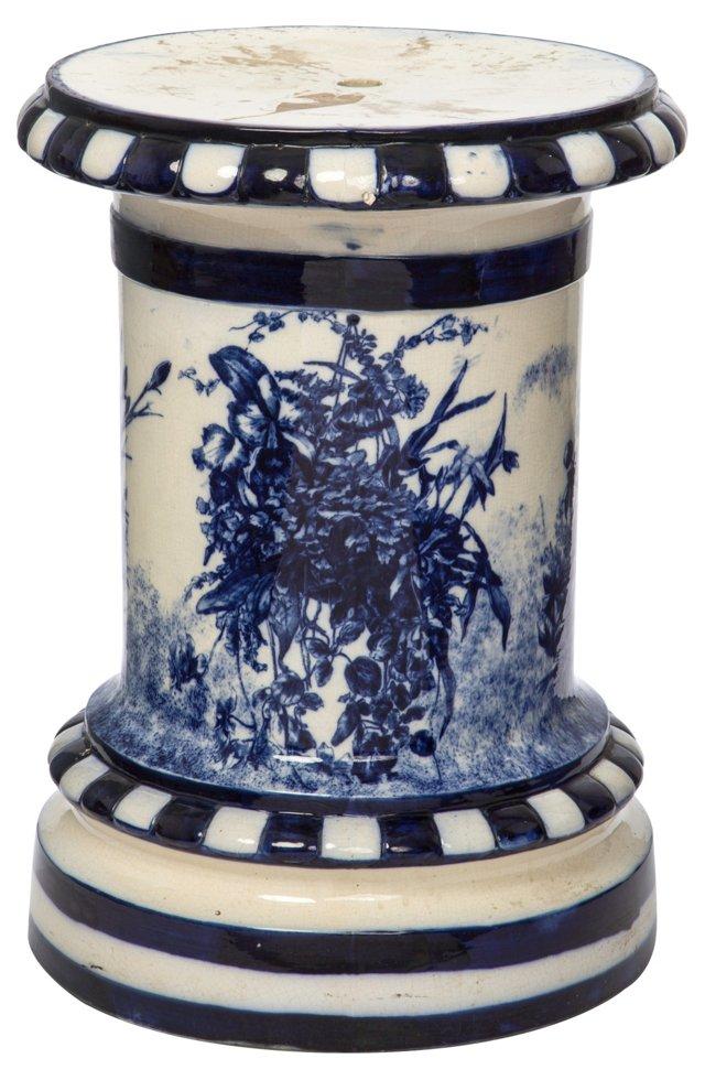 1920s   English Flow Blue Pedestal