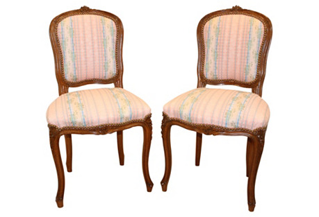 Early-20th-C. French Chairs,  Pair