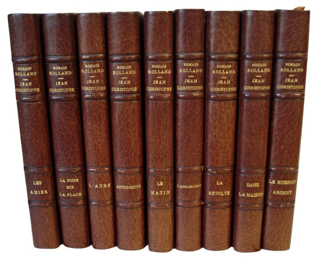 French Leather Books, S/9
