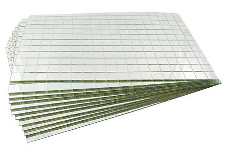 Tile Mirror Place Mats, S/12
